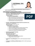 Mae Hazel C Esteban - Resume
