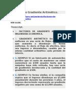 Factores de Gradiente Aritmético.