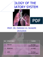 Histology of the Respiratory System 20152016