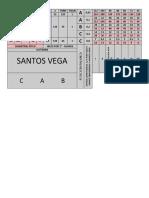 Tabla Roscas Torno Santos Vega T230 (Caja Norton)