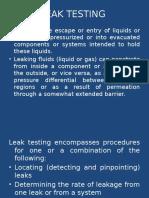 Leak Testing
