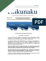 TINKUNAKU 20 ANIVERSARIO Julio 2016