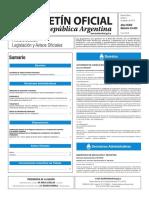 Boletín Oficial de la República Argentina, Número 33.433. 4 de agosto de 2016