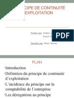 Principe de Continuité D_exploitation