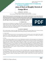 Corrosion in Ganga River
