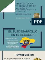 Subdesarrollo en El Ecuador