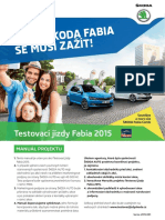 Manuál Testovací Jízdy Fabia 2015