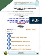 Informe Final de Coeficiente de Uniformidad de Un Aspersor