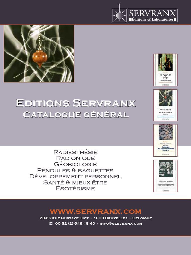 Servranx Radiesthesie Radionique Geobiologie Esoterisme Pendules Baguettes Pdf