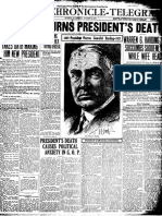 The death of Warren Harding
