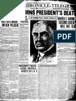 The death of Warren Harding