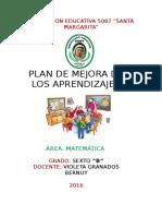 Formato de Plan de Mejora de Los Aprendizajes 2016