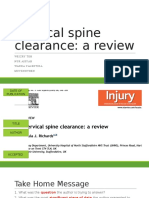 C Spine Clearance Ortho 3 Journal Club
