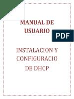 Manual de Usuario - Configuración de Dhcp