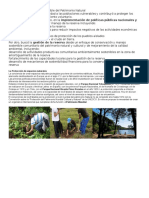 Conservación y Manejo Sostenible Del Patrimonio Natural