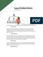 Modelos de Negocios Familiares