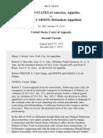 United States v. Robert T. Carson, 464 F.2d 424, 2d Cir. (1972)