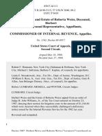 Herbert Weiss and Estate of Roberta Weiss, Deceased, Herbert Weiss, Personal Representative v. Commissioner of Internal Revenue, 850 F.2d 111, 2d Cir. (1988)