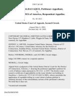 Heriberto Baldayaque v. United States, 338 F.3d 145, 2d Cir. (2003)