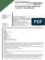 NBR 5884 - 2000 - Perfil I Estrutural de Aço Soldado Por Arco Elétrico