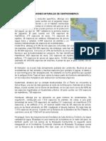 Las Regiones Naturales de Centroamerica
