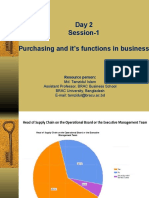 Purchasing Function and Environment