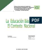 La Educación Básica en El Contexto Nacional