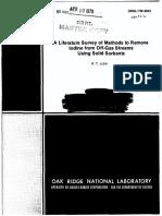 A Literature Survey of Methods to Remove Iodine