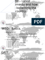WTO - Latest Developments