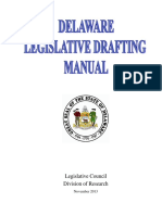 Delaware Legislative Drafting Manual (2013 Update )