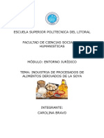 Trabajo Entorno Juridico - Industria Soya - Carolina Bravo
