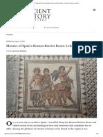 Mosaics of Spain's Roman Baetica Route_ Lebrija Palace – Ancient History Et Cetera