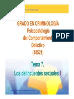 Los Delincuentes Sexuales (Parte 1)