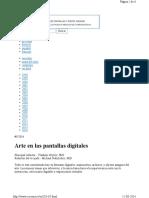 Arte Digital en El Espacio Publico