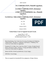 Bertha Building Corporation v. National Theatres Corporation, Gumbiner Theatrical Enterprises, Inc. v. National Theatres Corporation, 248 F.2d 833, 2d Cir. (1957)