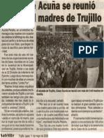 Satélite 11-05-09 Alcalde Acuña se reunió con 6 mil madres de Trujillo