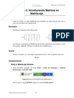 2, Introduciendo Matrices en MathScript