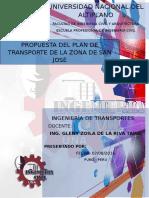 Propuesta Del Plan de Transporte de La Zona de San José