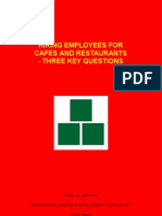 Hiring Employees For Cafes and Restaurants - Three Key Questions