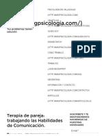 Terapia de Pareja_ Habilidades de Comunicación
