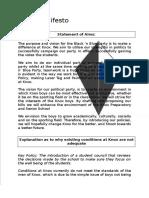 party manifesto