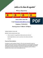 spanish 2 syllabus 2016