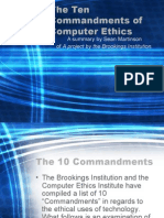 10 Commandments for Computer users