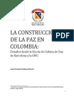 La Construccion de La Paz en Colombia
