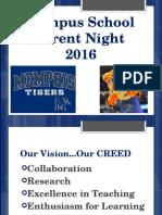 parent night 2016