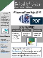 5th grade newsletter 2016
