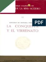 Estudios de historia peruana - La Conquista y el Virreinato - Riva-Agüero - Parte 1.pdf
