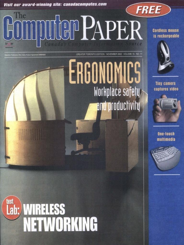2002 11 The Computer Paper Ontario Edition Digital Single Lens  # Pose Tele En Fer Forge