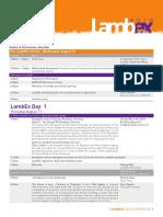 Lambex 2016 - program