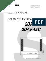 toshiba 20af41 color tv service manual download